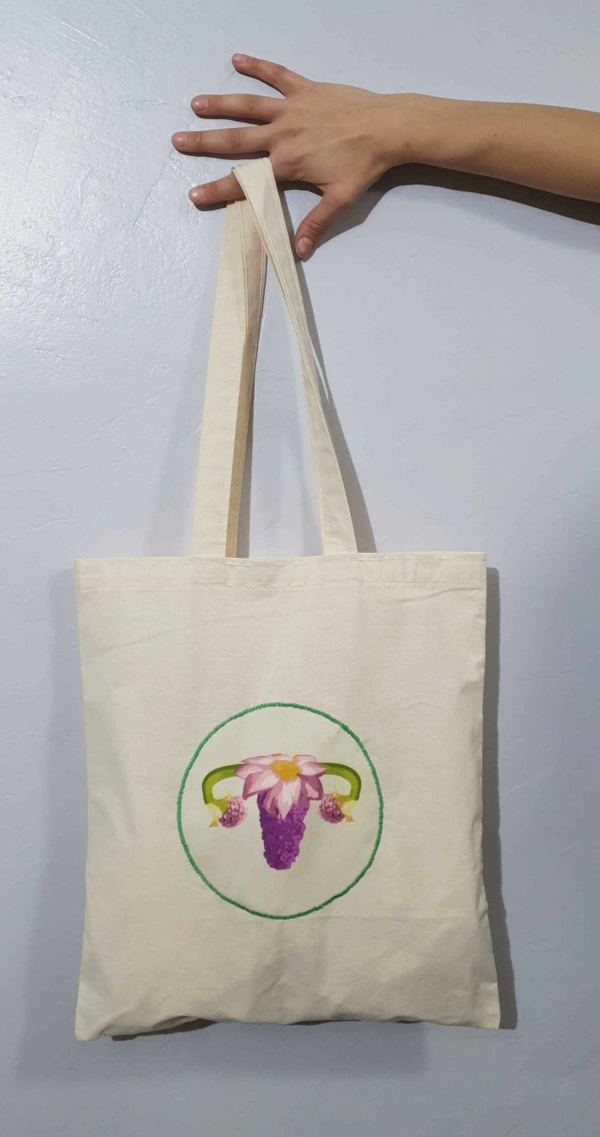 Tote Bag Ovarios Flower