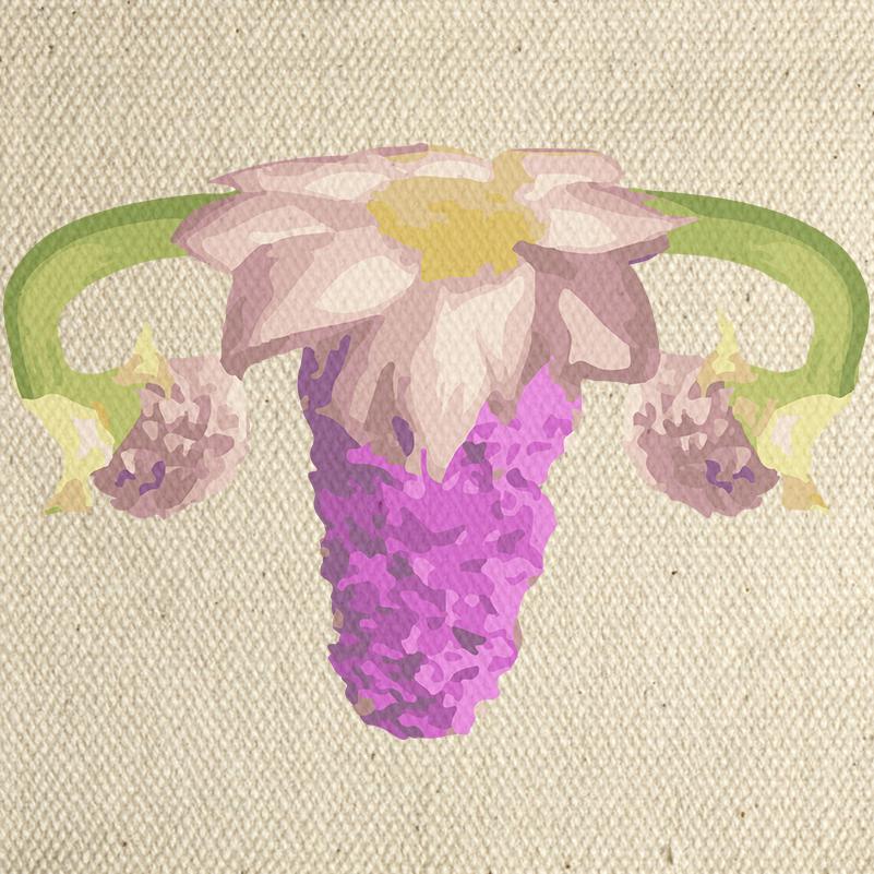 Parche Ovarios Flower